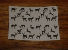 20  WATER SLIDE NAIL ART  DECAL TRANSFERS 4 different deer 5/8 th inch