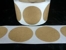 """25 2 Inch Round Natural Kraft Circles Stickers Shipping Labels New  2"""""""