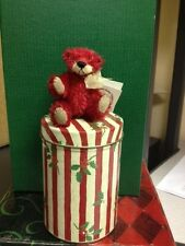 Deb Canham Cranberry Bear with Tin
