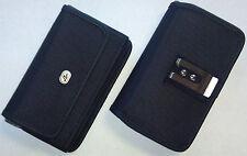 Large ZTE Warp 7 Phone Case Pouch holster w Metal Clip, Belt Loop