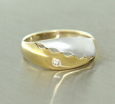 Goldring 585 mit Brillant Ring in Zweifarbengold Brillantring Gold Damenring