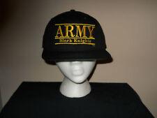 Vintage Militare Nero Cavalieri Incollato Cartellino Snapback Gioco Cappello 2bc03ac1ce5e