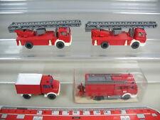 k941-0, 5 #4x Wiking Ho Mb Fire Fw, Lf 16 616, Metz Dlk Unimog Top + 1xovp