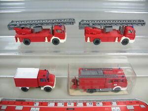 K941-0,5# 4x Wiking H0 MB Feuerwehr FW, LF 16 616, Metz DLK Unimog TOP+1xOVP