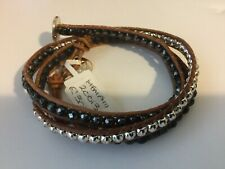 Boho Betty Memphis Leather Triple Twist Wrap Bracelet