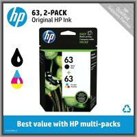 HP 63 Black & 63 Tri-Color, Standard Ink Cartridges, Retail Box, EXP 2020 !
