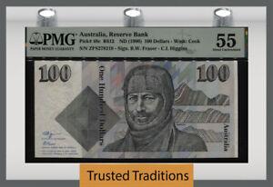 TT PK 48c ND (1990) AUSTRALIA RESERVE BANK 100 DOLLARS PMG 55 ABOUT UNCIRCULATED