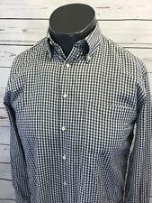 Peter Millar Black White Cotton Check Plaid Button Down Dress Shirt M