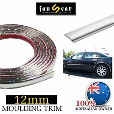Silver Chrome Molding Cover Trim Strip Cars Auto Body Door Edge Protecor 6Mx12mm