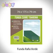 5345 FUNDA RAFIA VERDE TUMBONA 76X175X79CM