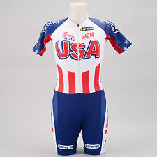 Skins Team USA SS Skinsuit SMALL America Flag Cycling Bike Skin Suit