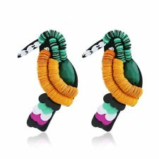 Animal Parrot Acrylic Sequin Bird Earrings Large Statement Earrings Boho Jewelry
