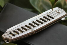 Free shipping CNC D2 Blade Full TC4 TITANIUM Handle Camping Folding knife