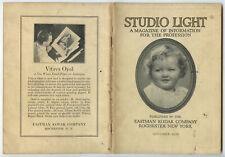 STUDIO OF LIGHT, SEPT 1930 VOL 22, MAGAZINE FOR PHOTO PROFESSIONALS