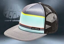 New Billabong Spinner Blue Gray Trucker Snapback Cap Hat