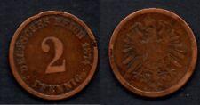 ALLEMAGNE   2 PFENNIG 1874 A