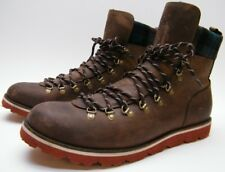 MENS COLE HAAN AIR HUNTER HIKER C09751 BROWN LEATHER PLAID BOOTS SHOES SZ 13 M