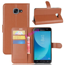 For Samsung Galaxy J7 MAX SM-G615F PU Leather Flip Cover Slots Wallet Case Pouch
