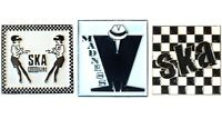 Madness SKA 2 Tone Rude Girl Band Metal Enamel Badge Set Scooterists MODS