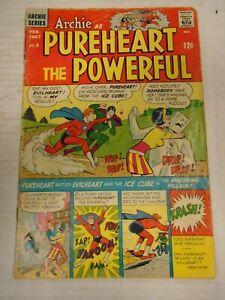 AP ARCHIE AS PUREHEART THE POWERFUL #3 (1967) Evilheart, Veronica, Bob White