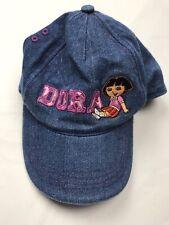 Dora The Explorer Hat Denim Blue Jean Adjustable Osfm Vintage Embroidered