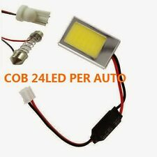 PANNELLO A LED COB-24 LED LUCE BIANCA PER AUTO 27x36MM PLAFONIERA ABITACOLO