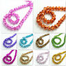 Wholesale new 200pcs Rondelle Faceted Crystal Glass Loose Spacer Beads diy 4mm
