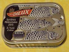 Boite de sardines  des DIEUX Poissons argentés 2015 -