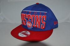 AUTHENTIC NEW ERA DETROIT PISTONS  NBA  BLUE SNAPBACK HAT CAP BRAND NEW