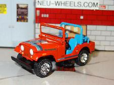 1972-83 JEEP CJ-5 RENEGADE 4X4 OFF ROAD 1/64 DIECAST REPLICA DIORAMA MODEL N