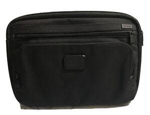 Tumi Slim Tablet Sleeve Bag Case Cover Ballistic Nylon Black Travel Business
