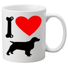 I Love Spaniel Dogs on a Quality Mug. Great Novelty 11oz Mug.