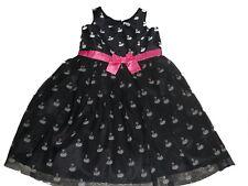 H & M zauberhaftes Kleid Gr. 128 schwarz mit Schwanen Motiven !!