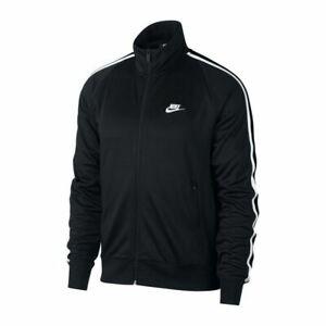 Nike NSW N98 Men's Tribute Track Jacket Size: (M) MEDIUM Black/White AR2244-010