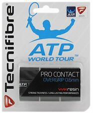 Tecnifibre Pro Contact ATP World Tour - 0.6mm - Pack of 3 - Black - Overgrip