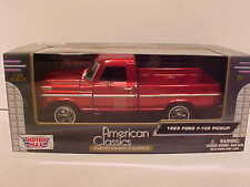 1969 Ford F-100 Pickup Truck Die-cast 1:24 scale by Motormax 8 inches Wine