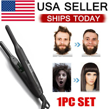Professional Curling Iron Flat Pencil Hair Straightener 0.3inch Short Hair Beard