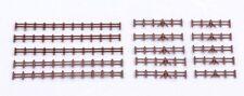 Gaugemaster GMKD13B Lineside Farm Rail Fencing abt 750mm Brown Plast N Gauge 1st