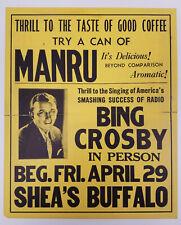 Bing Crosby Original Concert Poster Shea's Buffalo NY Fri April 29 1932 or 1938