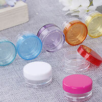 10Pcs 5ml Cosmetic Empty Jar Pot Eyeshadows Makeup Face Cream Containers Bottles
