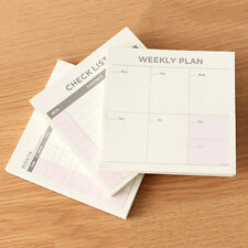 3Pcs  New Agenda Week Planiaryay-Planner Journal Record Notebook Stationery. Pop