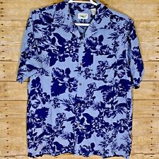 The Good Life Mens Button Down Size XL 100% Silk Hawaiian Short Sleeve Shirt