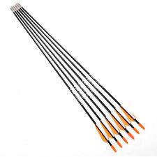 6pcs Archery Arrow Hunting Spine 700 7mm Fiberglass Target Practice Arrow