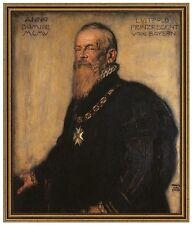 Franz di stucco 10 principe Regent Luitpold di Baviera tela 42x50 secessione
