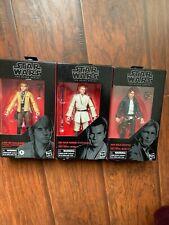 Lit of 3 Star Wars The Black Series Disbey Hasbro Luke, Han Solo, Obi-Wan