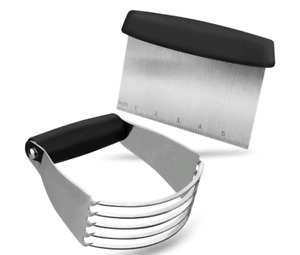 Pastry Cutter Set Pastry Blender and Dough Scraper  Stainless Steel Dough Cutter
