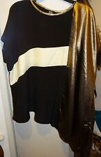 River Island Gold Black Top BNWT Size UK 8 EUR 34 Summer, Going out, Casual