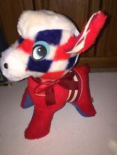 Vintage Fair Carnival Prize Red White Blue Donkey Democrat Stuffed Plush