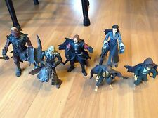 Lot of 6 LOTR Action Figures Arwen Uruk Hai Hobbits Orc Overseer Boromir