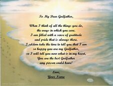 Christmas Gift/ Birthday Gift For Godfather Personalized Poem Gift Footprints